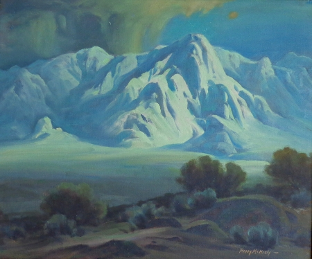 Perry McNeely Enchanted Light Death Valley 20x24 Oil on Canvas Board
