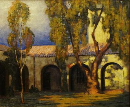 Richard Taggart Mission Shadows 1931 20x24 Oil on Canvas