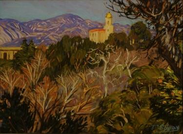 Tim Solliday Pasadena Foothills 10x13 Pastel
