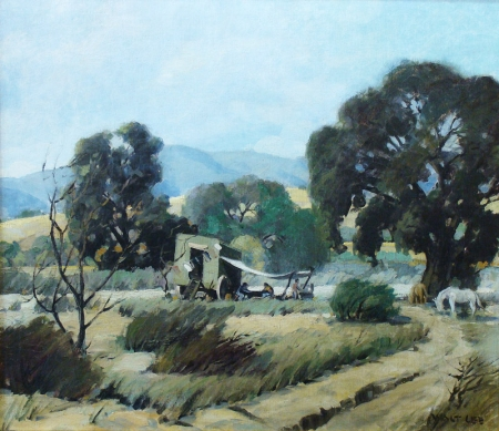 Walt Lee Gypsy Camp near Newhall 1933 28x32 Oil on Canvas