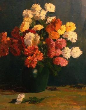Winnifred Burr Floral Still Life 20x16 Oil on Board
