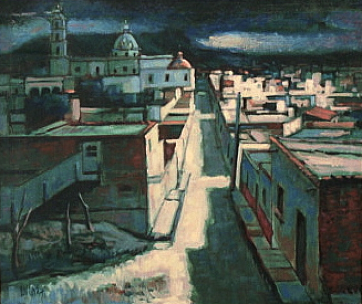Earl Cordrey Taxco at Night 24x28 Oil
