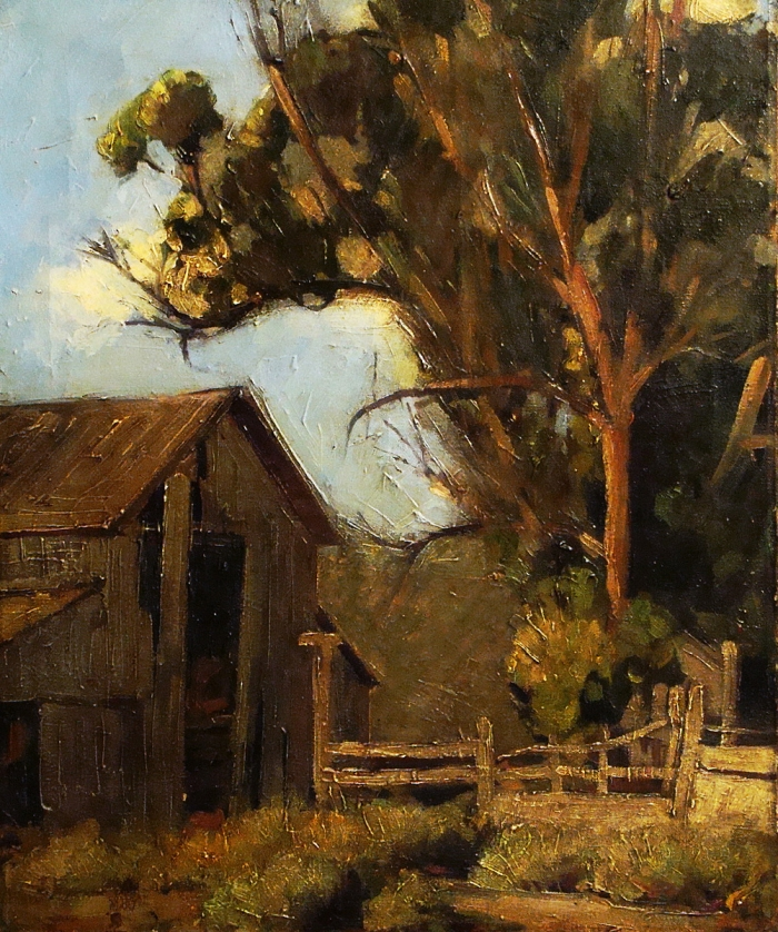 Earl Collman Martin Abandoned Barn 24x20 Oil on Canvas