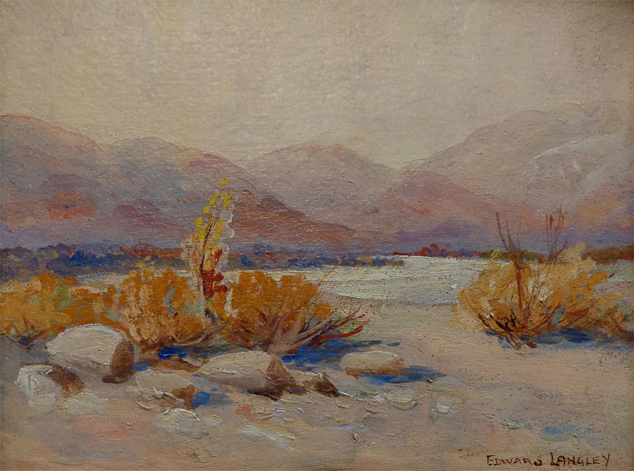 Edward Langley California Desert 7x9 Oil on Board