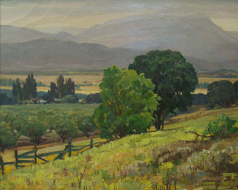 Einar C Petersen Ojai Valley–1939 24x30 Oil on Canvas