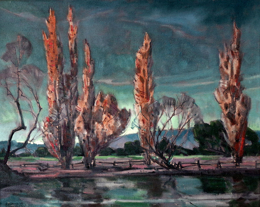 Eugene Frandzen Evening Glow 16x20 Oil on Canvas Board
