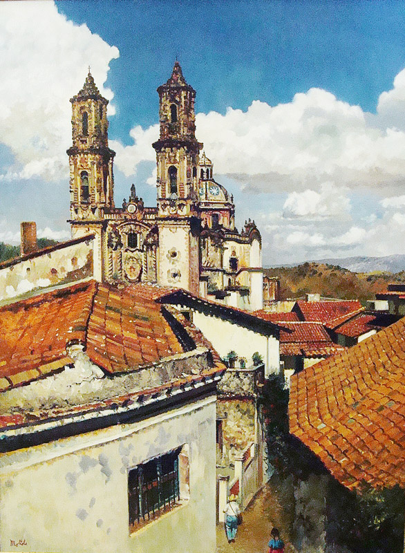 Filastro Mottola Taxco Cathedral 40x30 Oil on Board