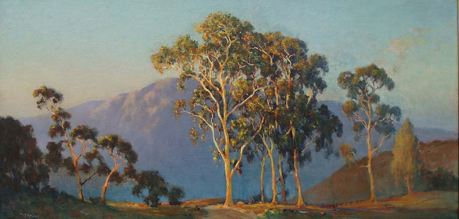 Frank Montague Moore Morning Light 20x40 Oil on Board