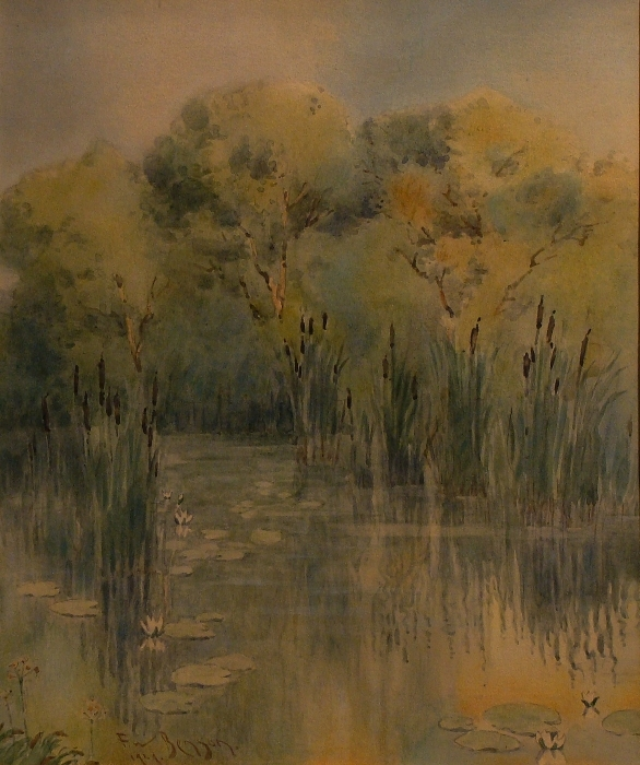 Frank W Benson Marshland 14x9 Watercolor