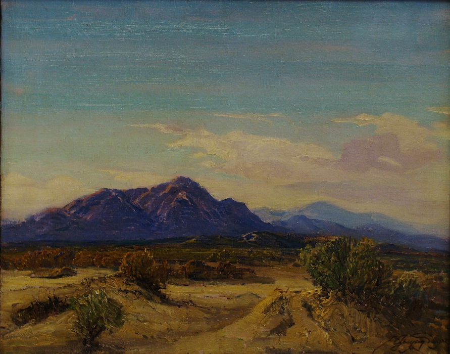 Fred Grayson Sayre Coachella Valley 16x20 Oil on Canvas