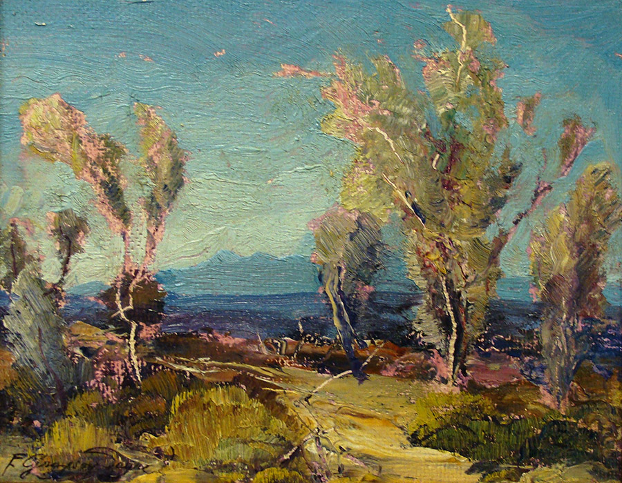 Fred Grayson Sayre Desert Color 8x10 Oil on Board