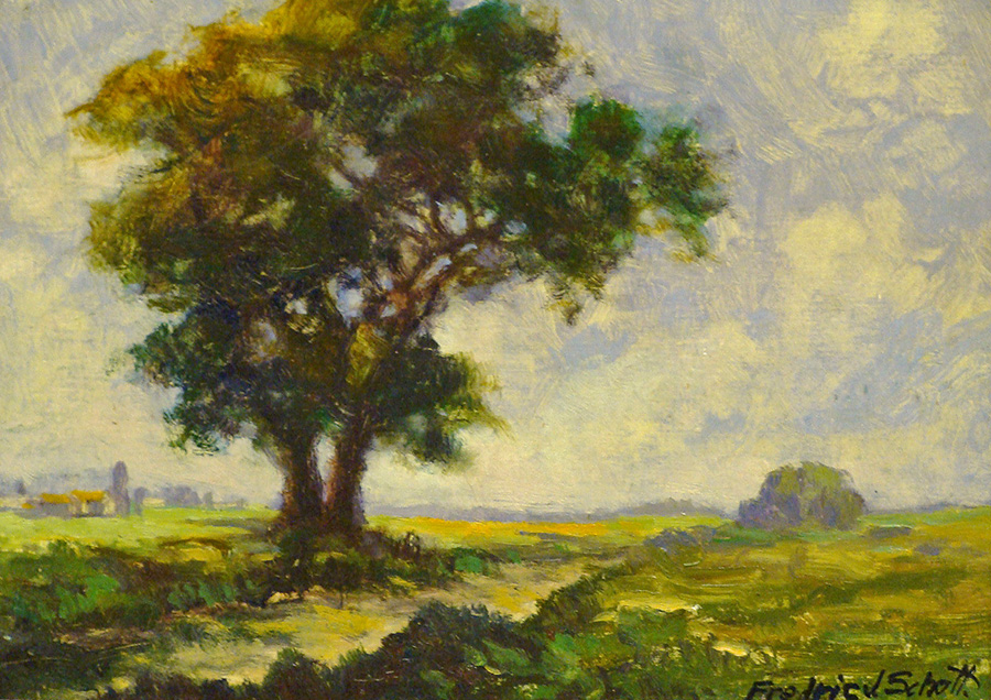Frederic Schott California San Gabriel Valley 8x10 Oil on Board