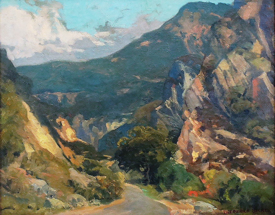 Frederick Becker Malibu Canyon 16x20 Oil on Board
