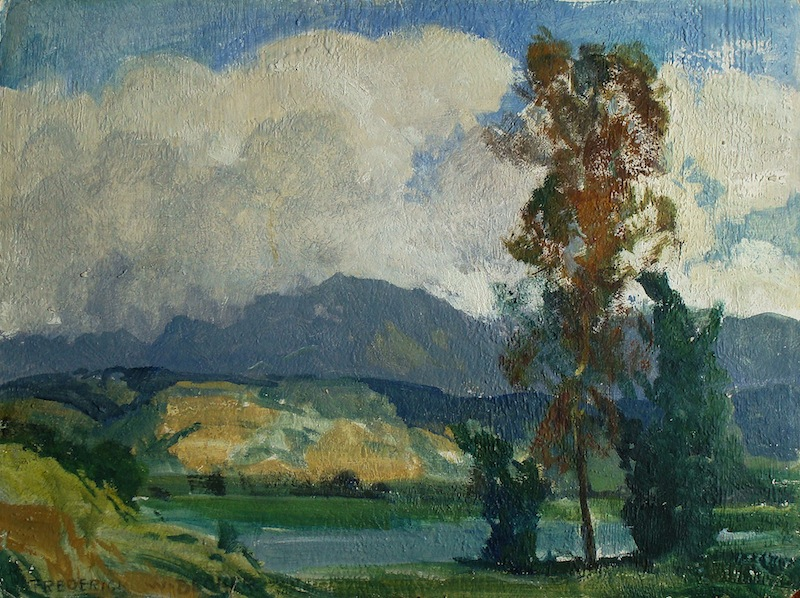Frederick W Becker Chatsworth Reservoir San Fernando Valley 12x16 Oil