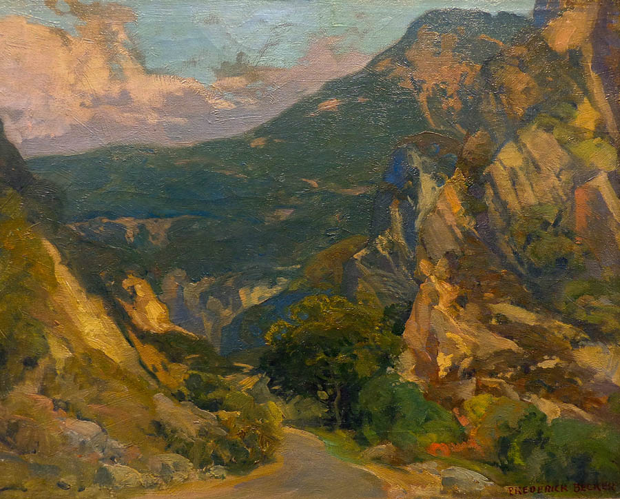 Frederick W Becker Malibu Canyon 16x20 Oil on Board