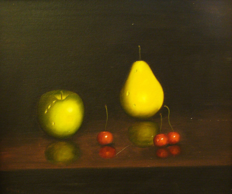 David Tindle Fruit Still Life 24x30 Oil on Canvas
