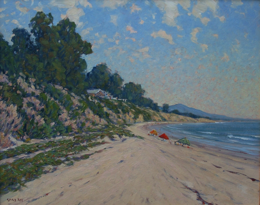 Gary Ray Summerland Beach 24x30 Oil on Canvas