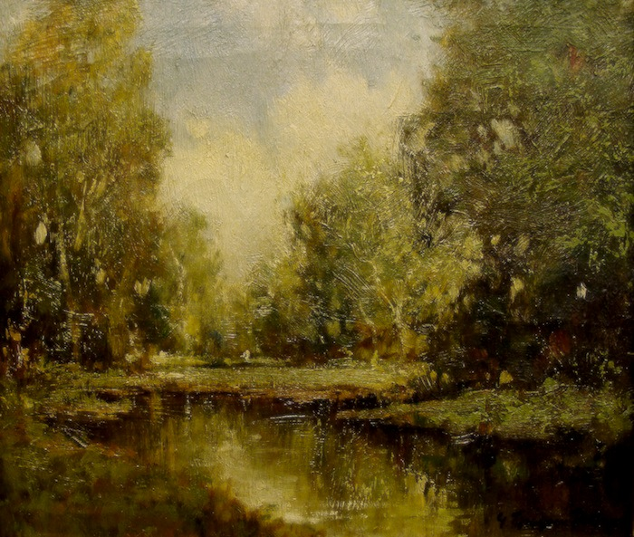 George Thompson Pritchard Forest Clearing 14x12 Oil