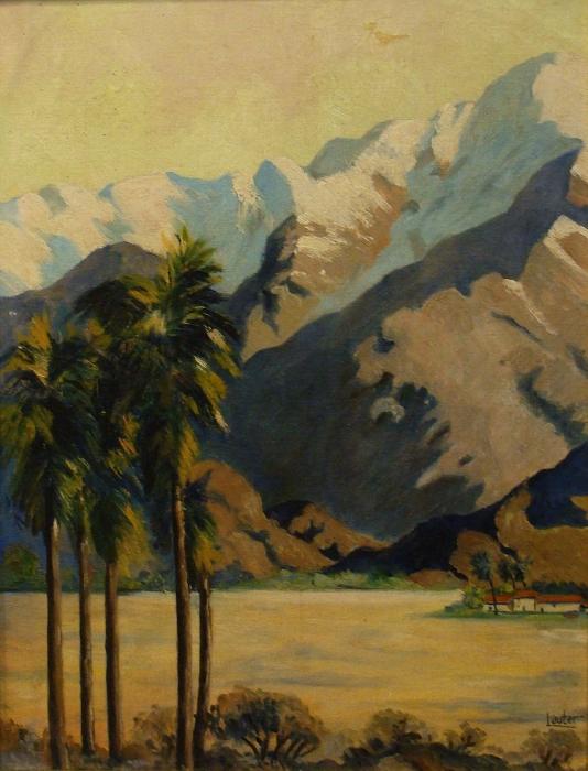 Harold Lauter Near Palm Springs 18x14 Oil on Board
