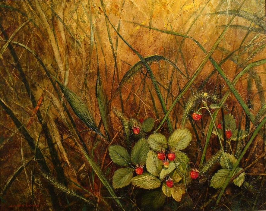Harry Lane Wild Berries 16x20 Oil on Board
