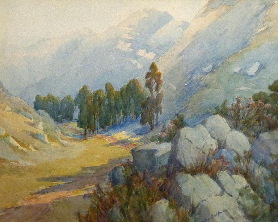 Helen Balfour Sierra Foothills 16x20 Watercolor