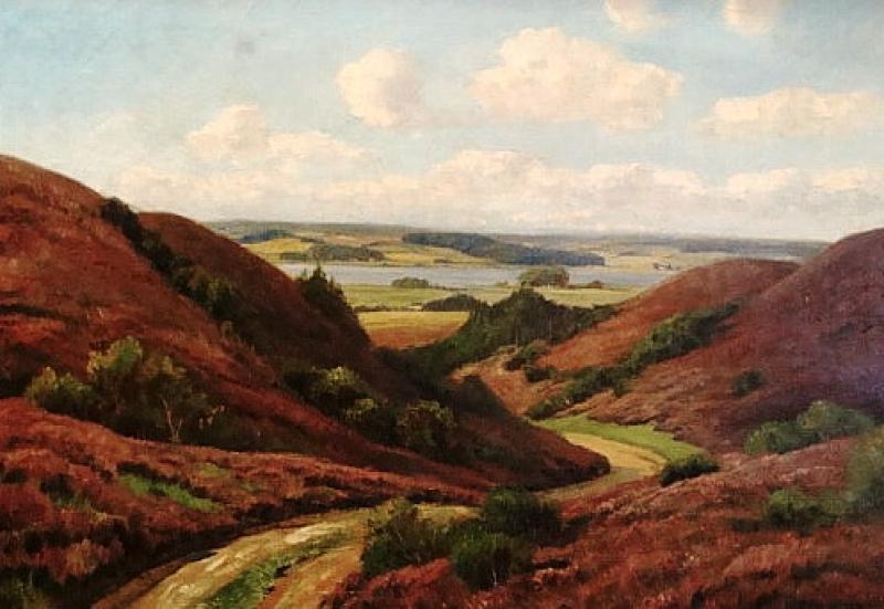 Henrik Gamst Jesperson Rolling Vista 28x40 Oil Painting