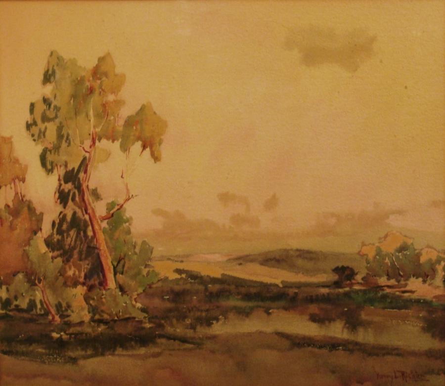 Henry L Richter California Landscape 16x20 Watercolor