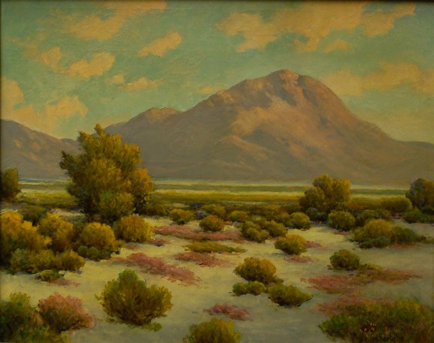 Herbert Sartelle Colorful Desert 24x30 Oil on Canvas