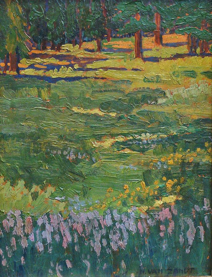 Hilda van Zandt Forest Flowers 9x7 Oil on Canvas
