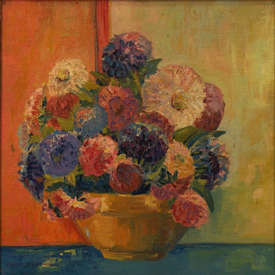 Irene B Robinson Bouquet of Color 15x13 Oil on Board