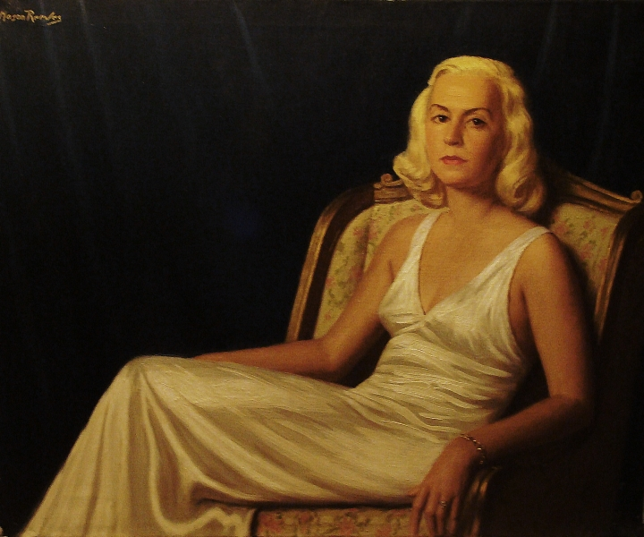 J Mason Reeves Coral Gables Blond 24x30 Oil on Canvas