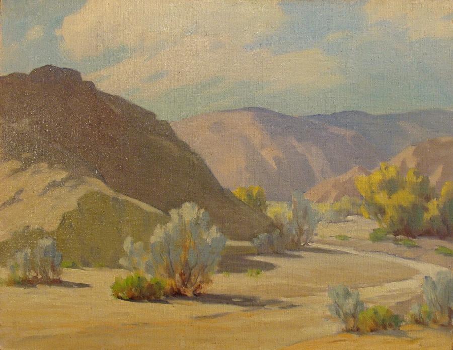 Jack McCartney Desert Arroyo 14x18 Oil on Board