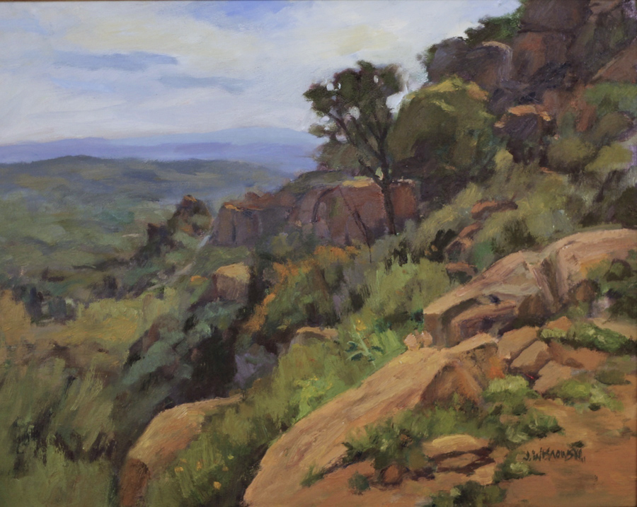 James Wisnowski Morning Light at Stoney Point Oil Painting
