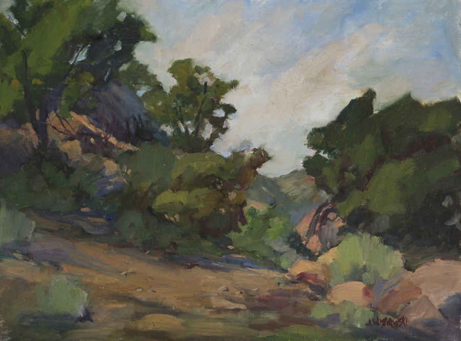 James Wisnowski Stoney Point Path Oil Painting