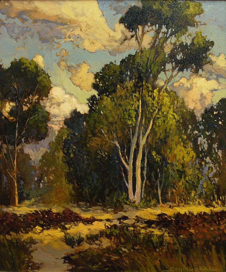 Jan Schmuckal Lazy Eucalyptus 24x20 Oil on Canvas