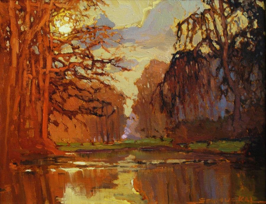 Jan Schmuckal Sunrise Color 11x14 Oil on Canvas