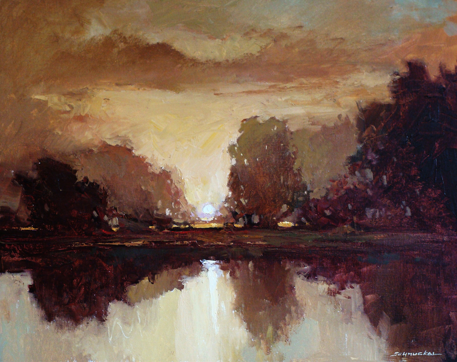 Jan Schmuckal Sunset Solitude 24x30 Oil on Board