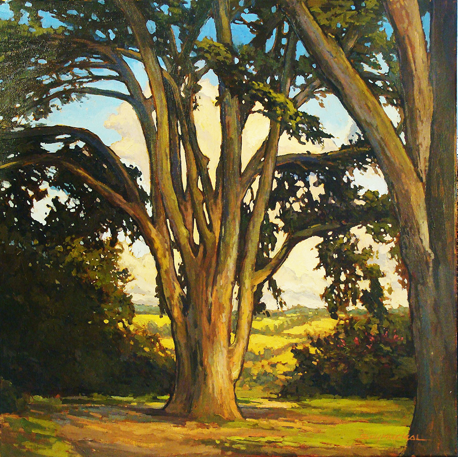 Jan Schmuckal View from the Hill 30x30 Oil on Canvas