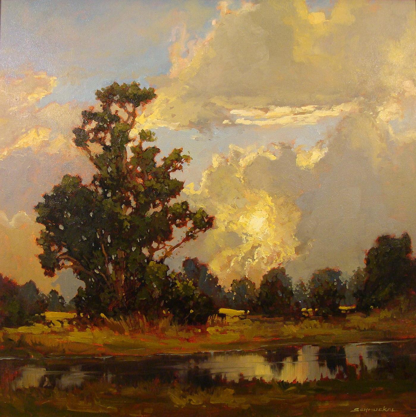 Jan Shmuckal Approaching Storm 24x24 Oil on Canvas