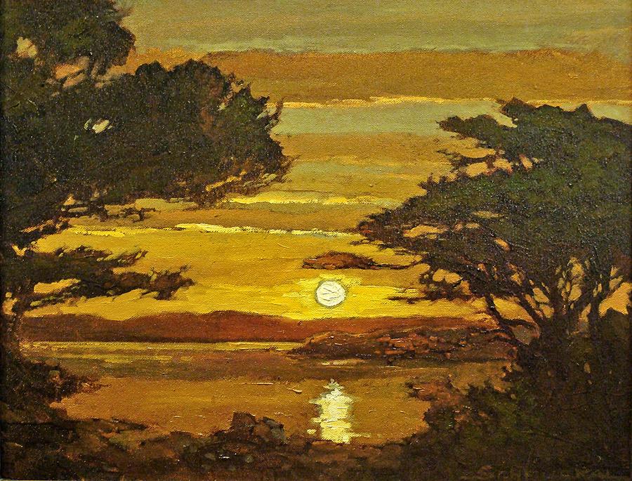Jan Schmuckal Monterey Sunset 16x20 Oil on Canvas