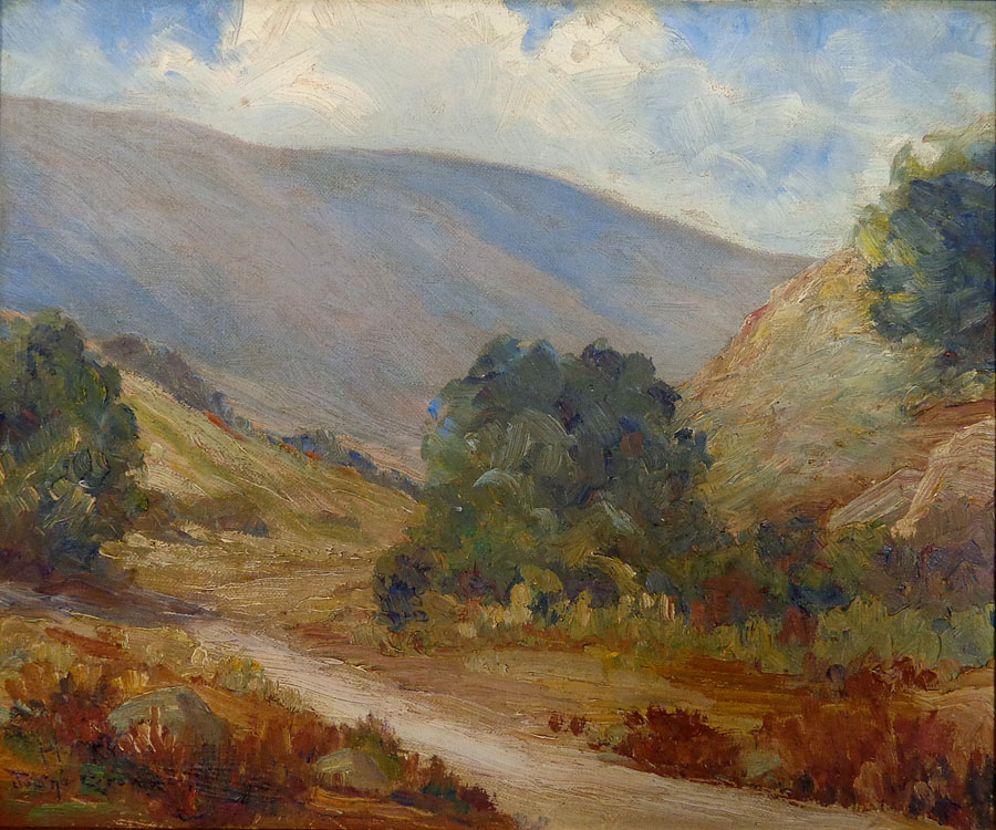 Joane Cromwell Path Through the Hills 10x12 Oil on Canvas Board