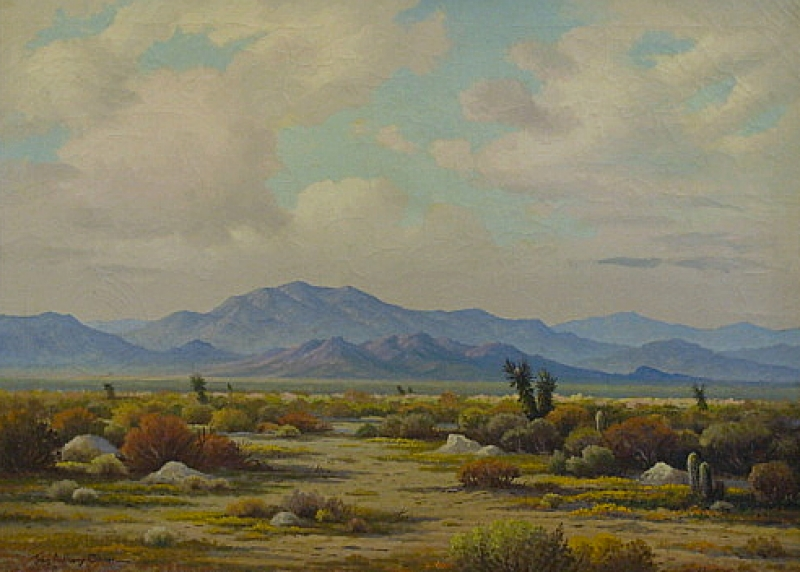 John A Conner Desert Scape 26x36 Oil
