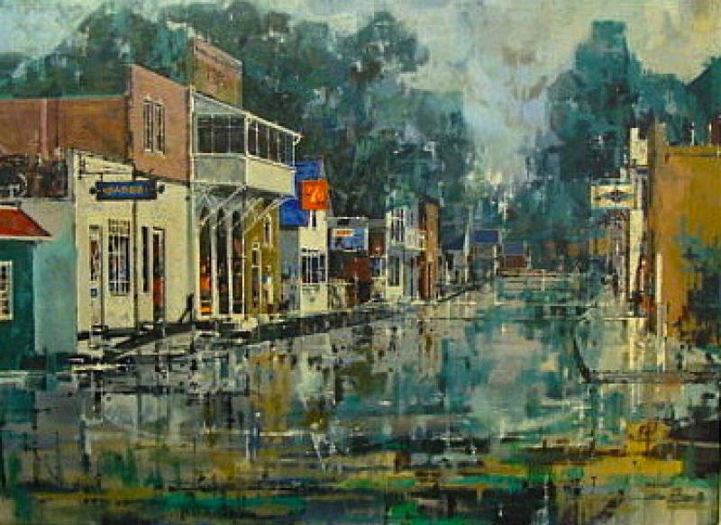 John Cameron Berkey After a Rain 20x22 Oil