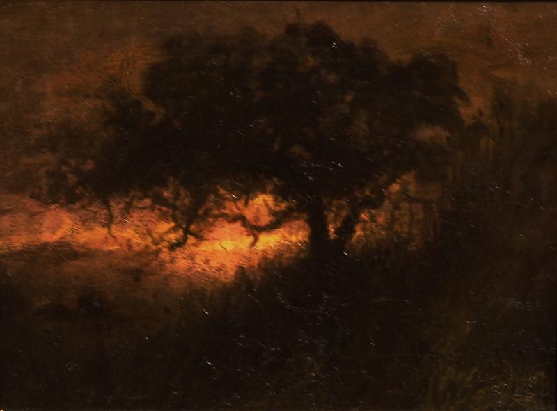 John Gutzon Borglum Twilight through the Trees 11x14 Oil on Canvas