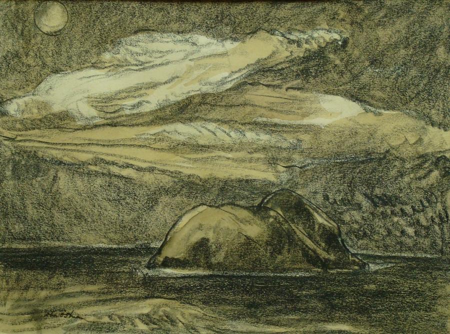 John O. Shea Moonlight on the Ocean