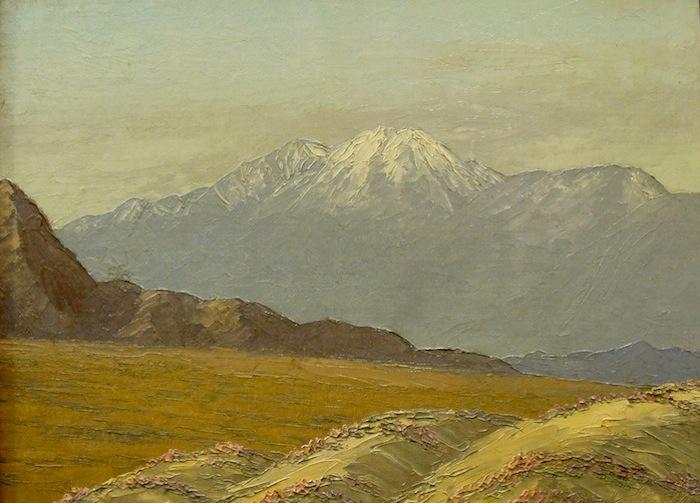 John W Hilton Springtime near Mt San Gorgonio 12x16 Oil