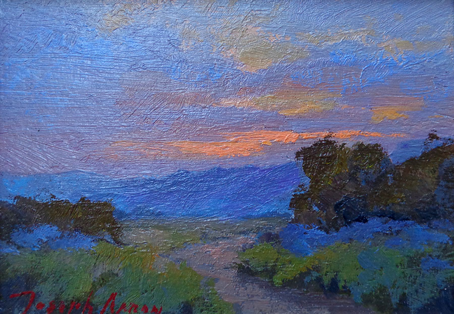 Joesph Aaron Palm Springs Sunset 5x7 Oil on Board