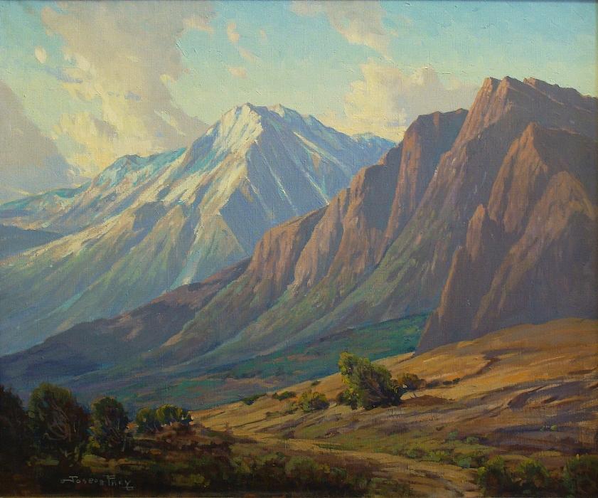 Joseph Frey Sierra Peaks 25x30 Oil on Board