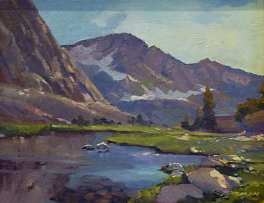 High Sierra Spring by Lynne Fearman - Oil Painting 11x14