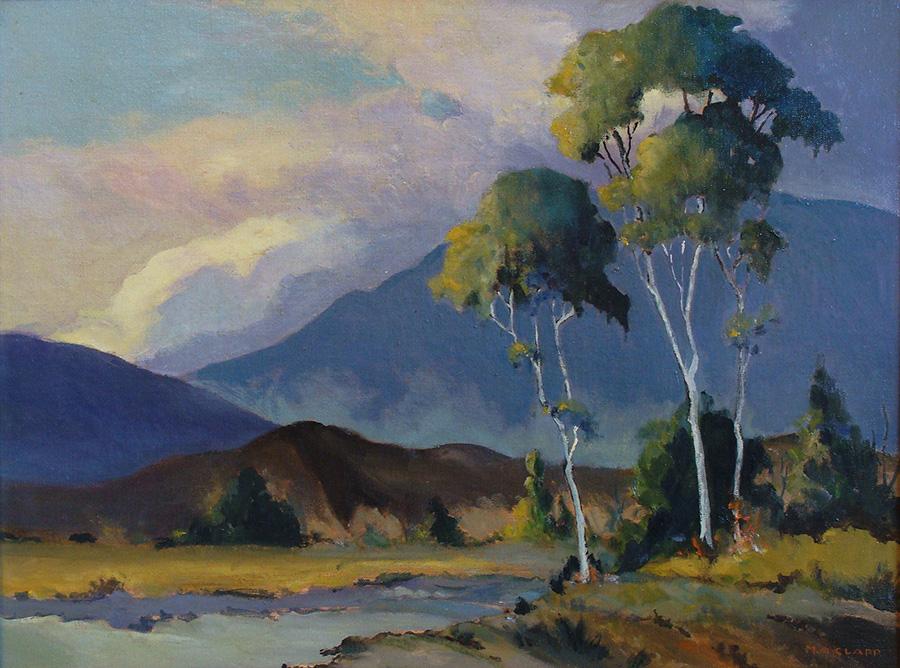 Margaret A Clapp California Hills 18x24 Oil on Canvas Board